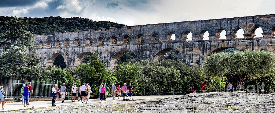 Pont du Gard Aqueduct  A UNESCO World Heritage Site by Thomas Marchessault