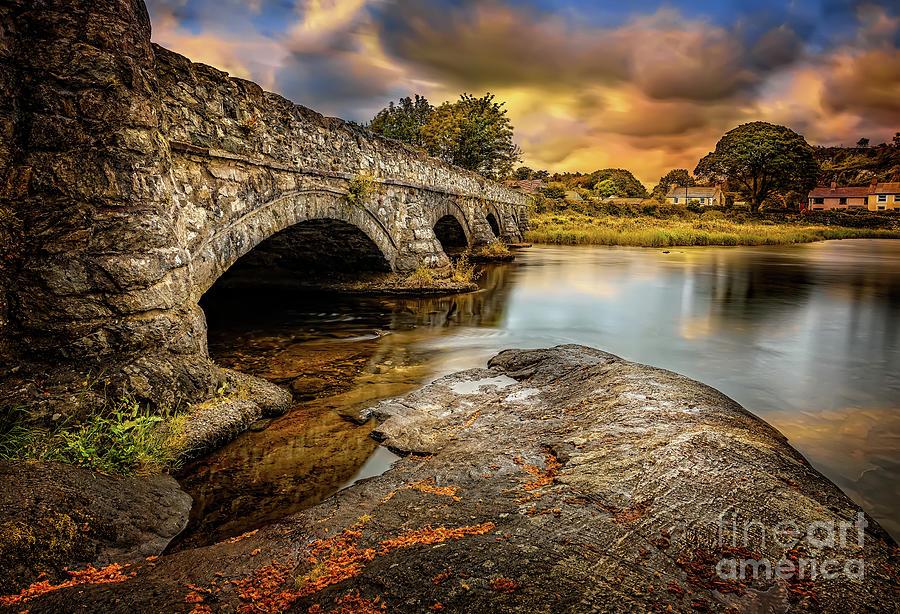 River Photograph - Pont Pen-y-llyn Bridge Snowdonia by Adrian Evans