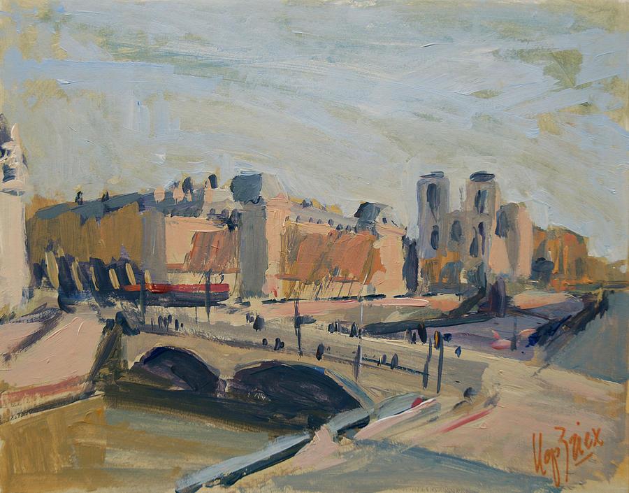 Pont Saint Michel et Notre Dame by Nop Briex