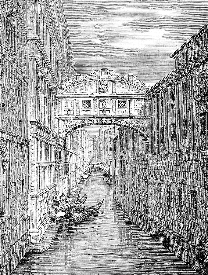 Ponte Dei Sospiri Bridge Of Sighs Digital Art by Ilbusca