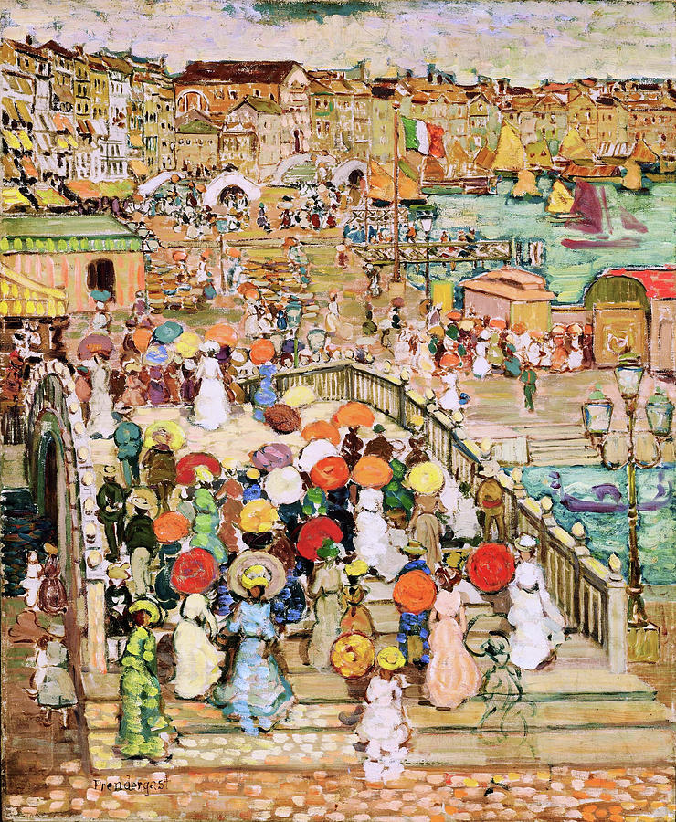 Usa Painting - Ponte Della Paglia - Digital Remastered Edition by Maurice Brazil Prendergast