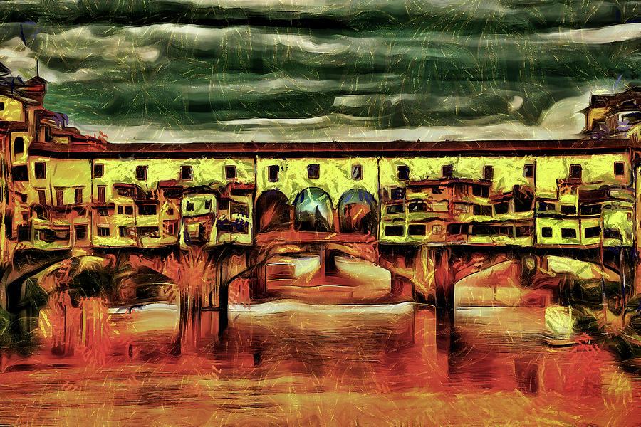 Ponte Vecchio Bridge Florence by Mad Artist