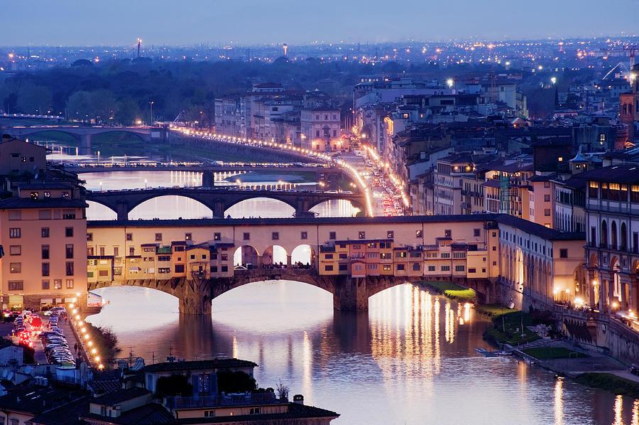 Ponte Vecchio Bridge In Florence At Photograph by Deejpilot