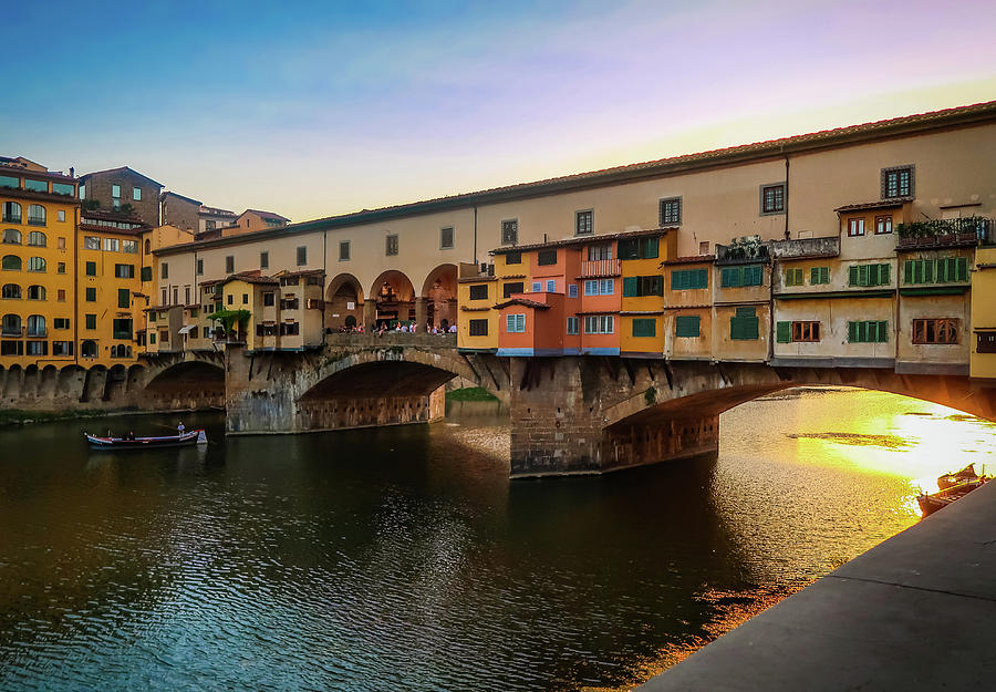 Ponte Vecchio Bridge Italy by Robert Blandy Jr