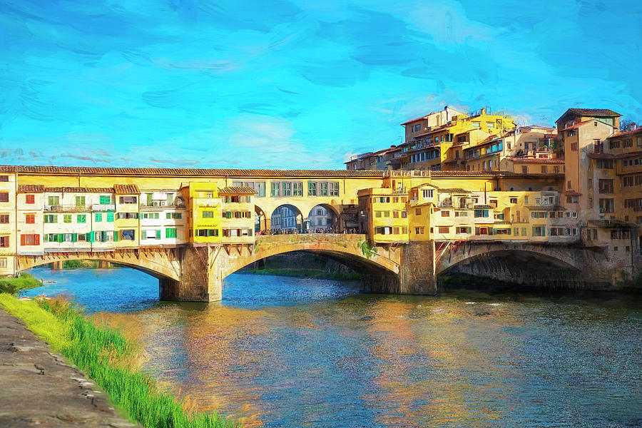 Ponte Vecchio, Florence, Italy - Stylized Photograph by Lowell Monke