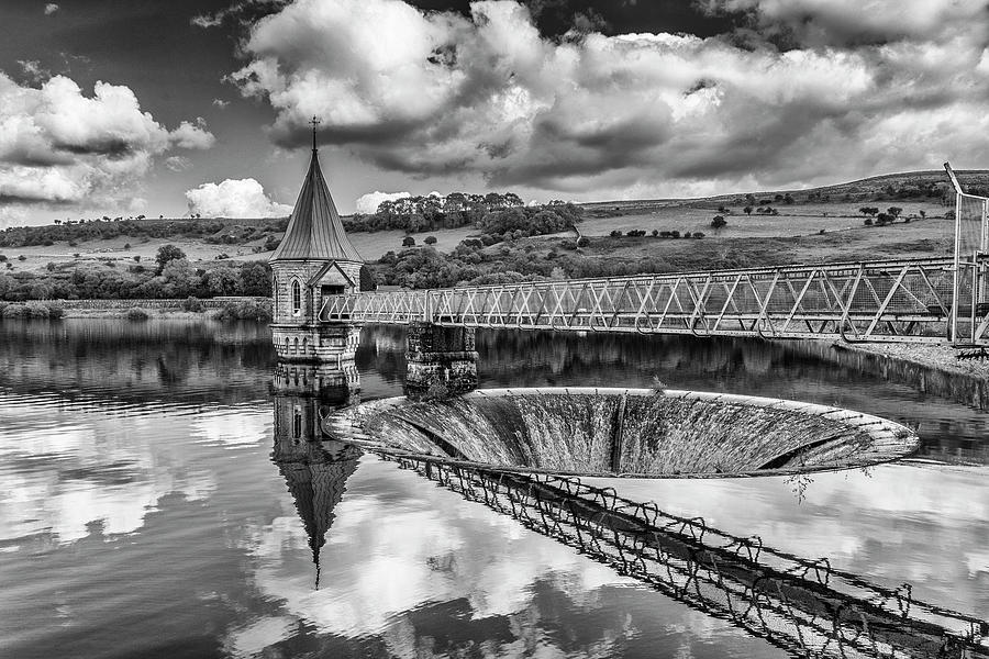Pontsticill Valve Tower Monochrome by Steve Purnell