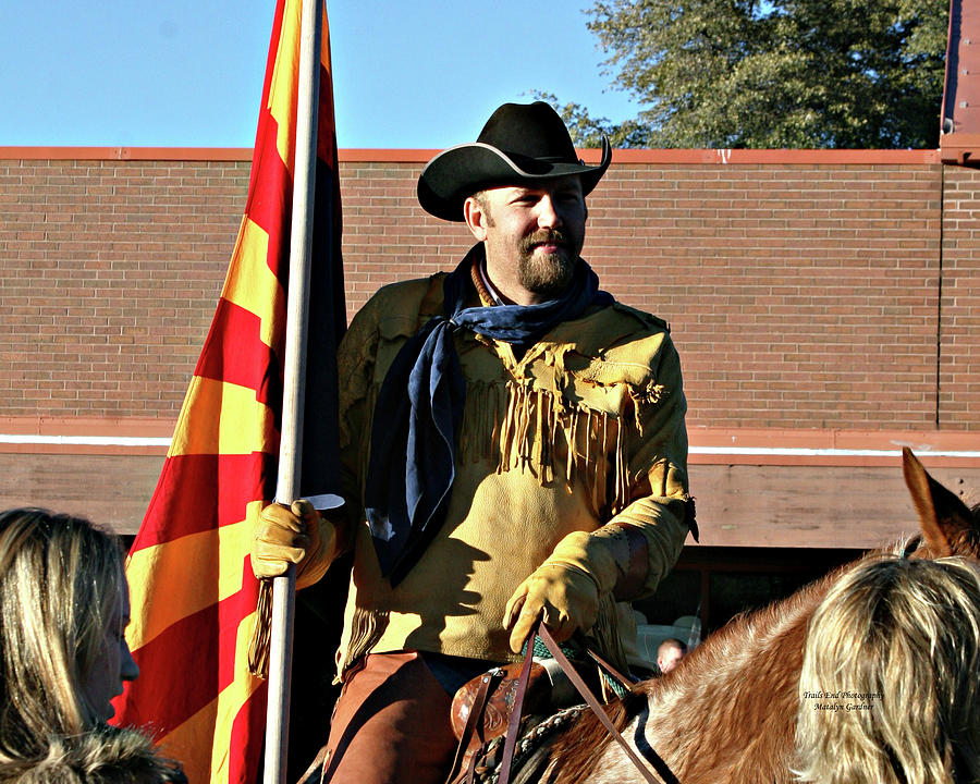 Pony Express Flag Bearer by Matalyn Gardner