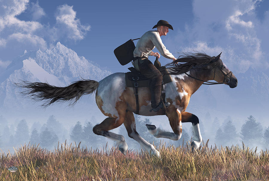 Pony Express Rider by Daniel Eskridge