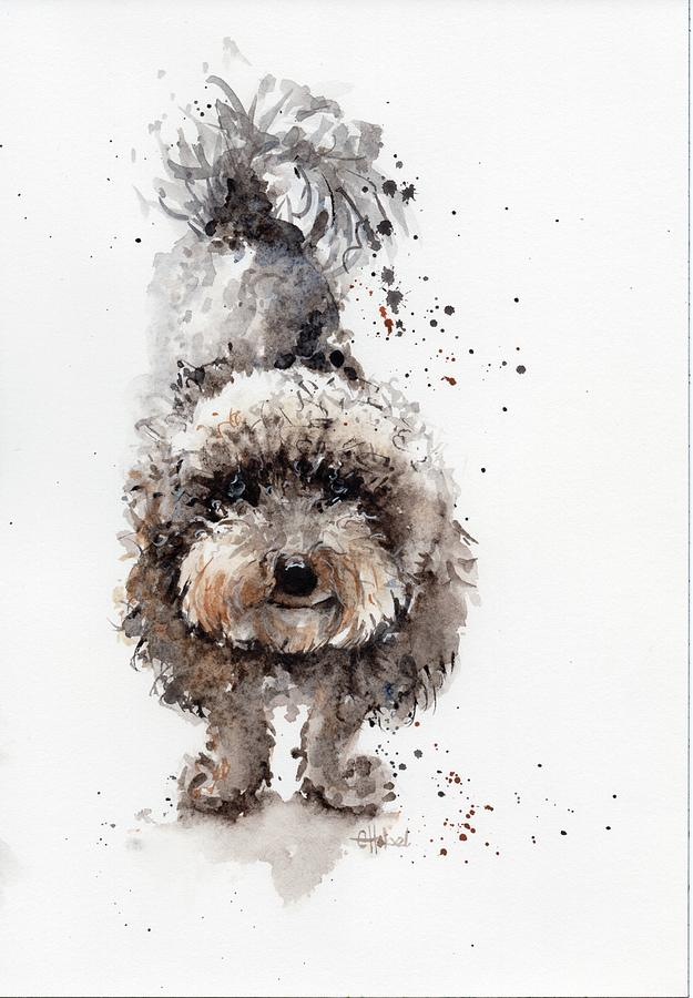 poodle painting by Chris Hobel