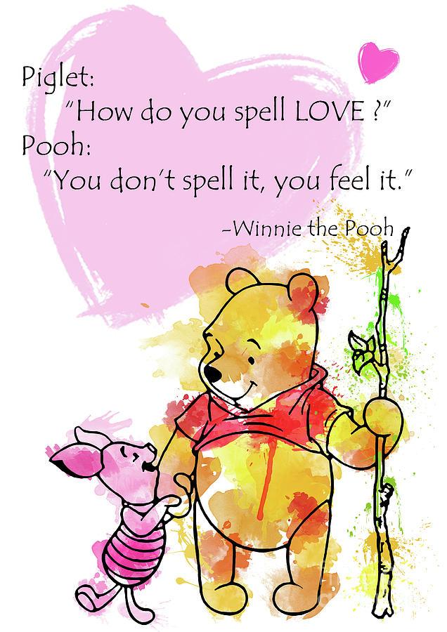 c625204c Pooh - Spell Love... 2 Digital Art by Prar Kulasekara