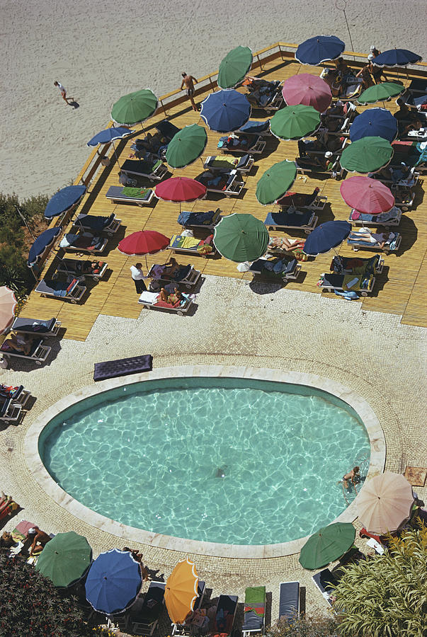 Pool At Carvoeiro Photograph by Slim Aarons