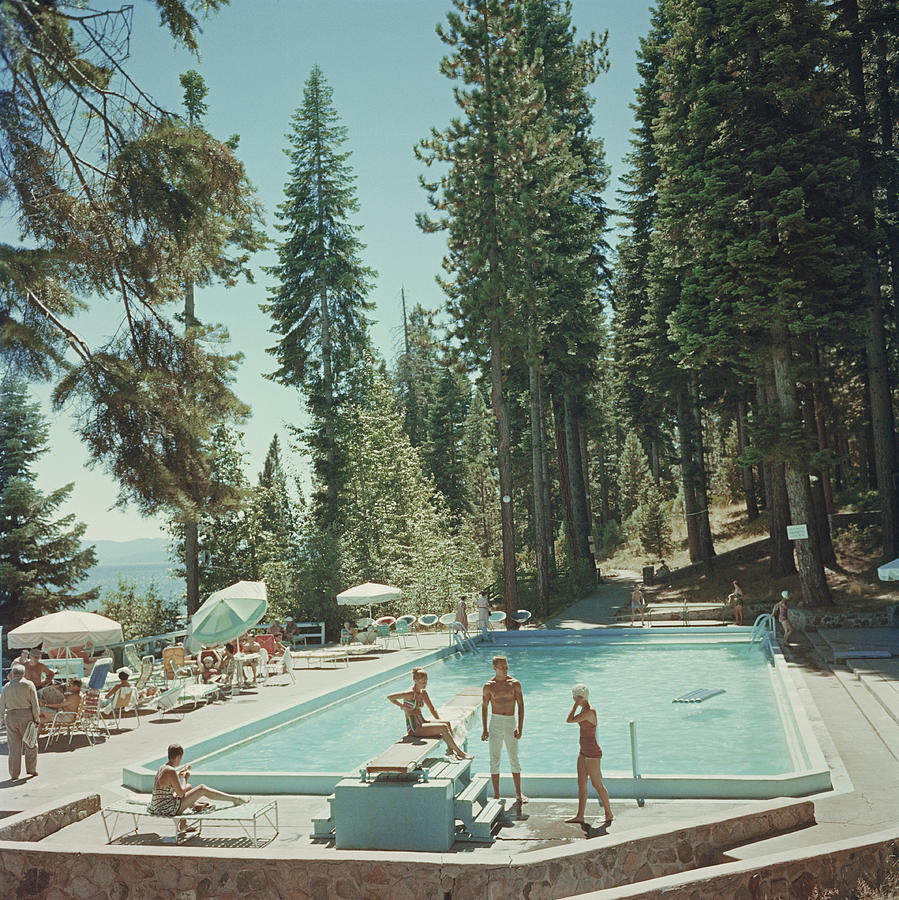 Pool At Lake Tahoe Photograph by Slim Aarons