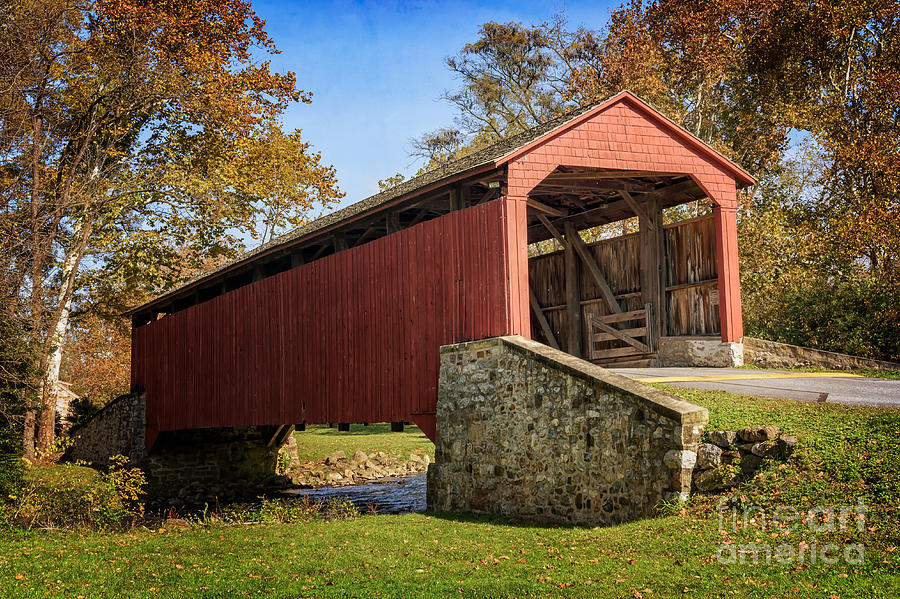 Pool Forge Covered Bridge  by Debra Fedchin