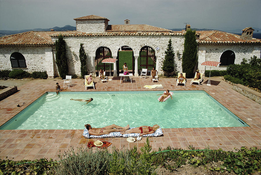 Pool In St Tropez Photograph by Slim Aarons