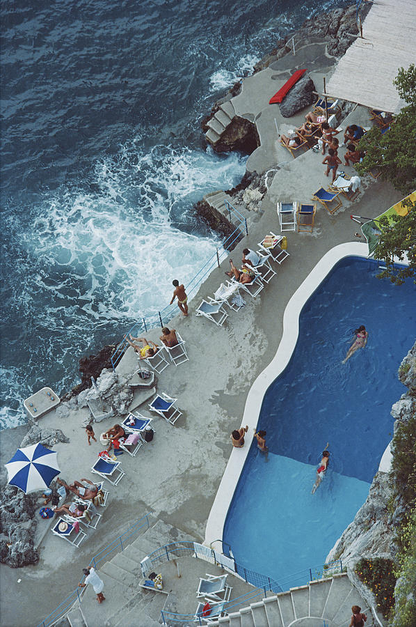 Pool On Amalfi Coast Photograph by Slim Aarons