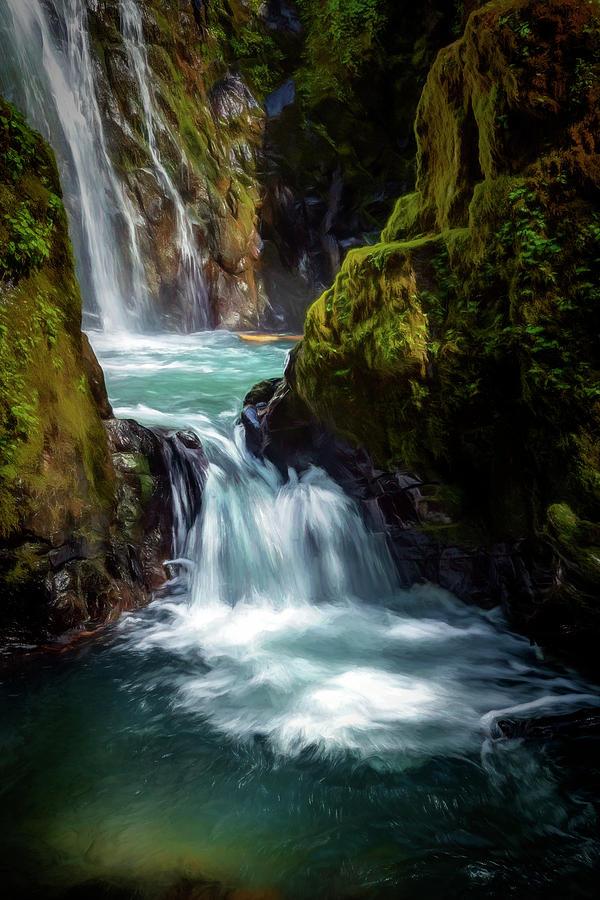 Pools Below Falls by Maria Coulson
