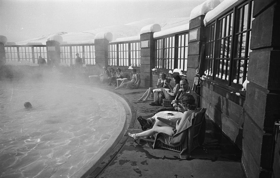 Poolside At Sun Valley Ski Lodge Photograph by Alfred Eisenstaedt
