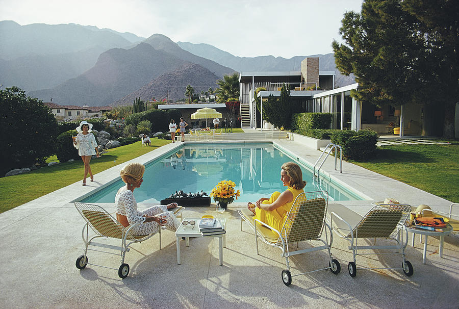 Poolside Gossip Photograph by Slim Aarons
