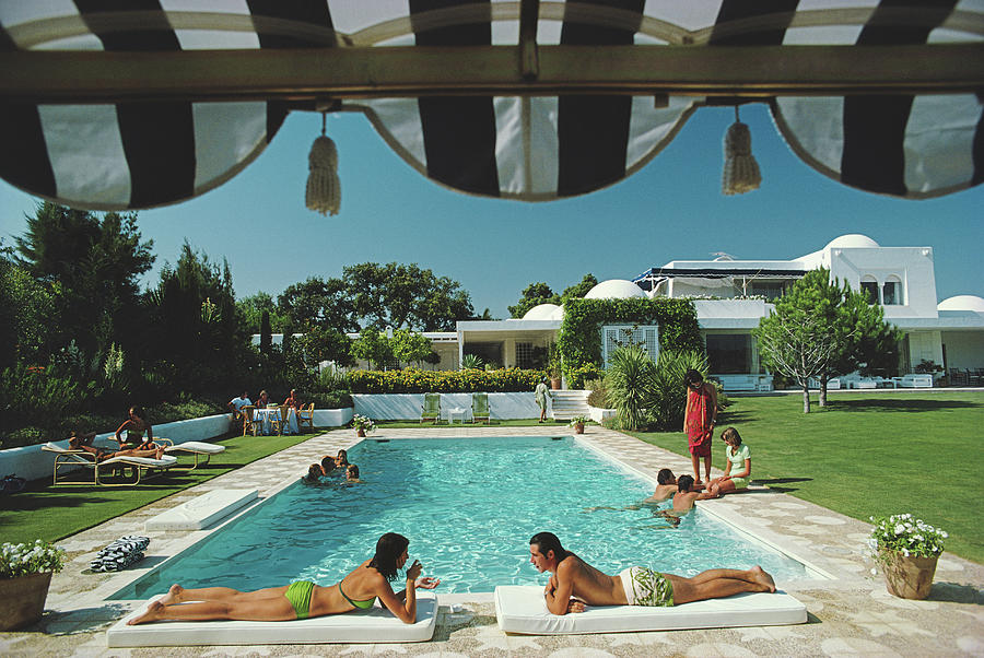Poolside In Sotogrande Photograph by Slim Aarons