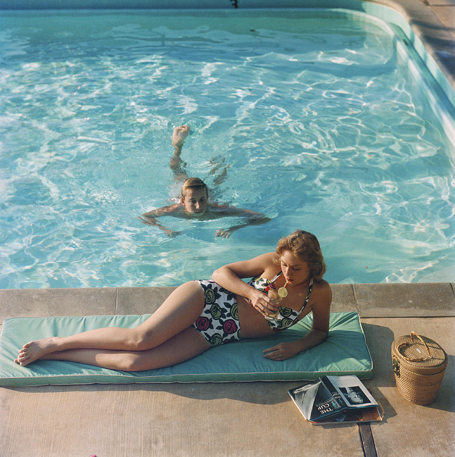 Poolside On Shelter Island Photograph by Slim Aarons