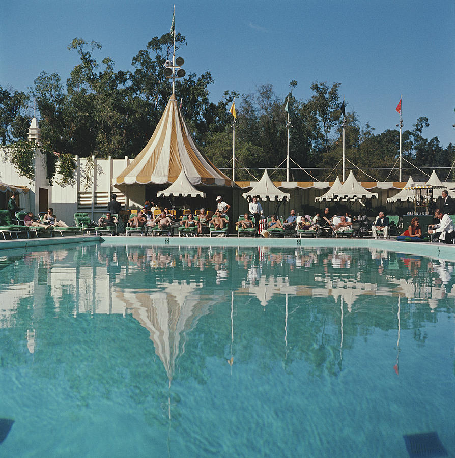Poolside Reflections Photograph by Slim Aarons