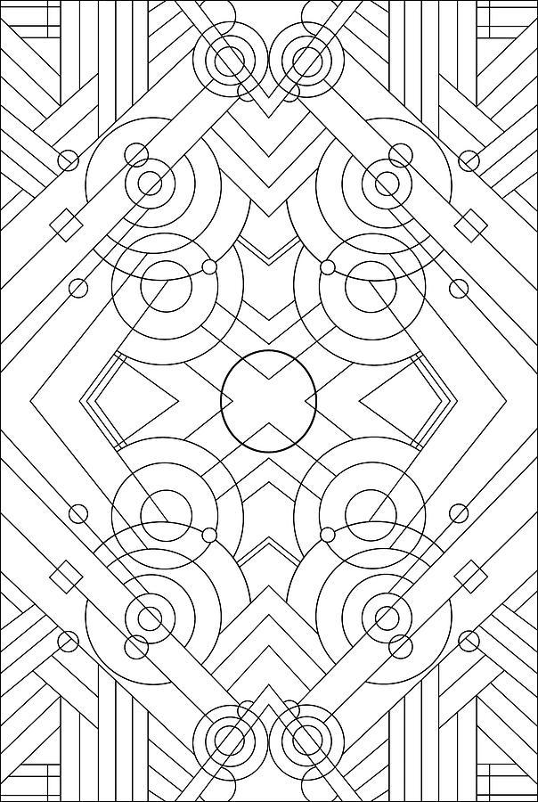 Abstract Digital Art - Pop Art Deco Panel 715 by Howie Green
