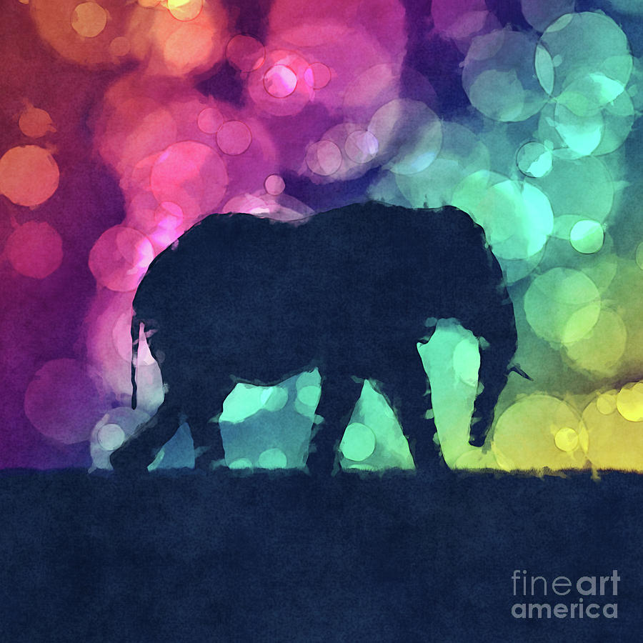 Elephant Digital Art - Pop Art Elephant by Phil Perkins