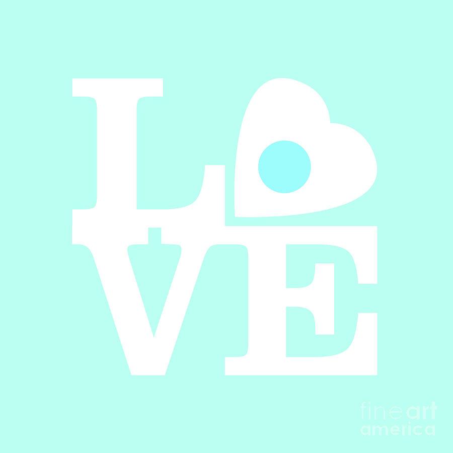 Love Digital Art - Pop Art Love In Blue by Delphimages Photo Creations