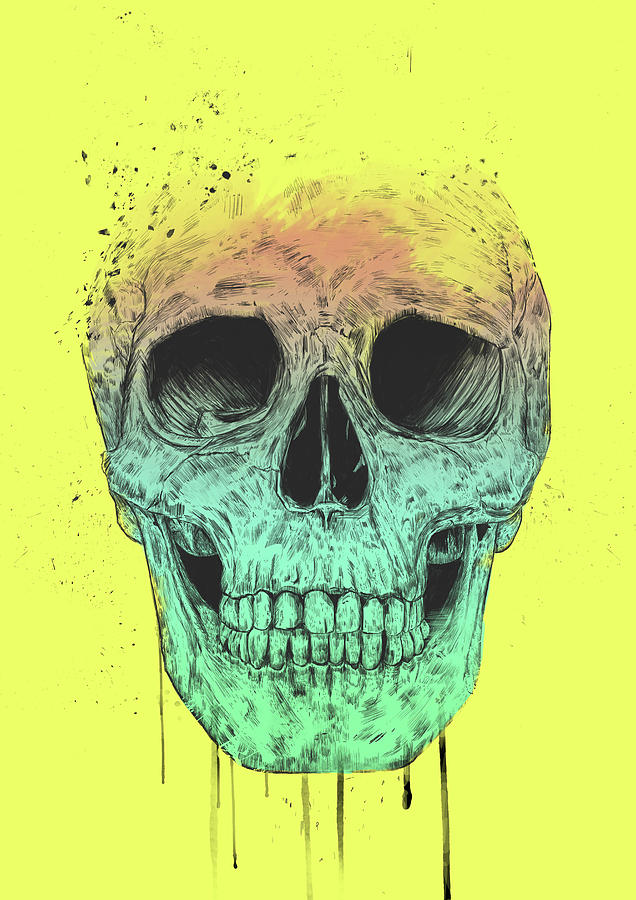 Skull Drawing - Pop Art Skull by Balazs Solti