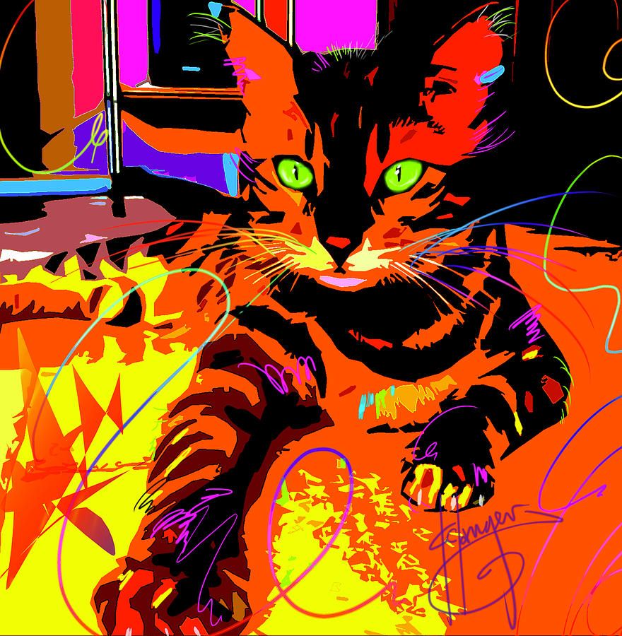 POP CAT Bengal by DC Langer