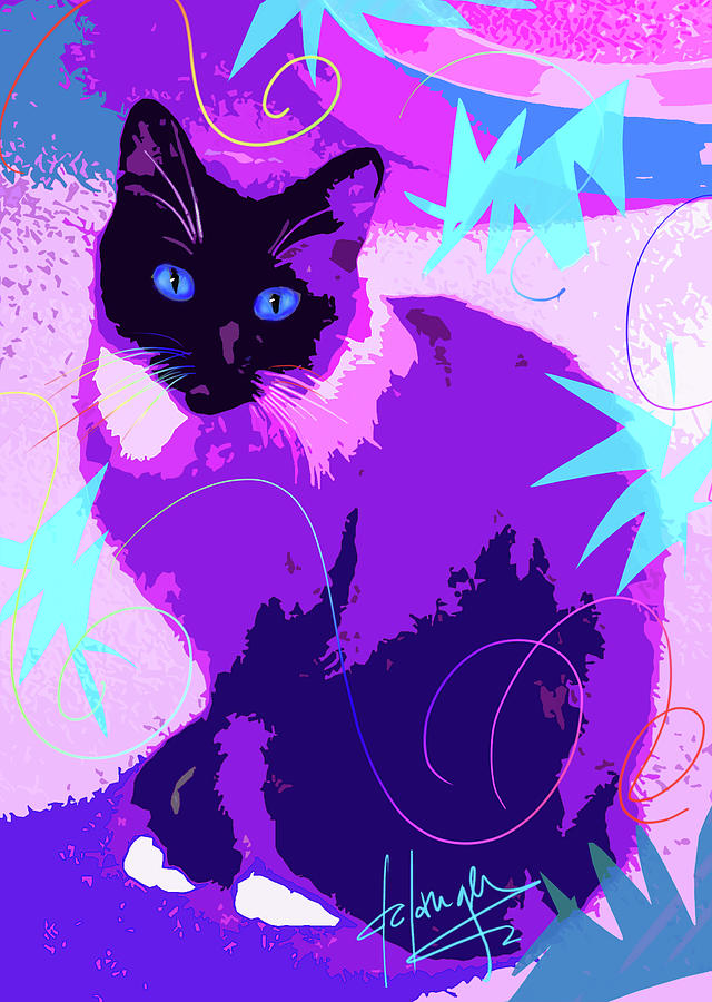 Dizzy Painting - Pop Cat Cocoa by DC Langer