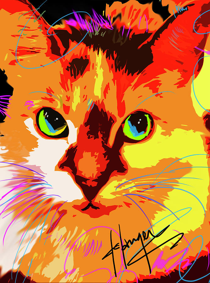 POP CAT Lily by DC Langer