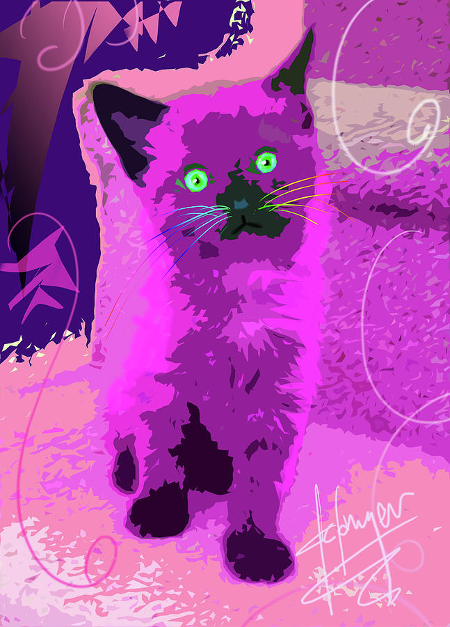 Pop Cat Sparky Painting