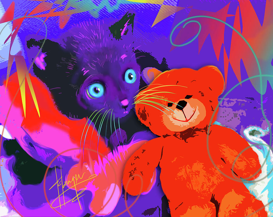 pOp Cat Teddy And His Teddy by DC Langer