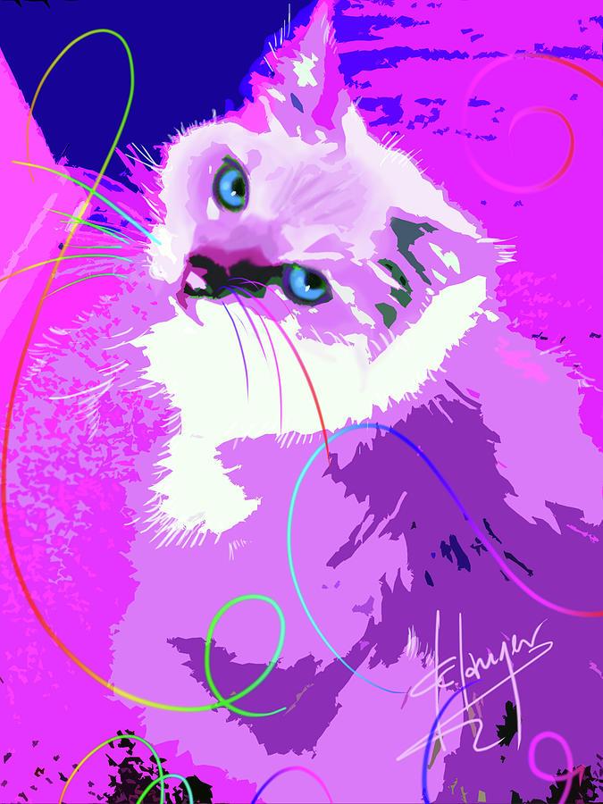 Pop Cat Tiffany Painting