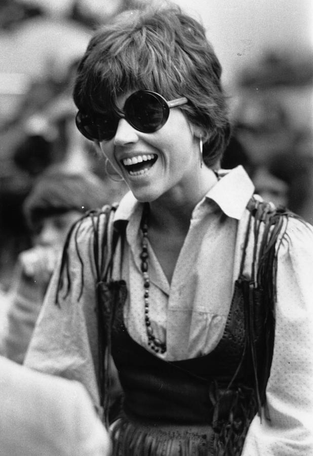 Pop Fan Fonda Photograph by Norman Potter