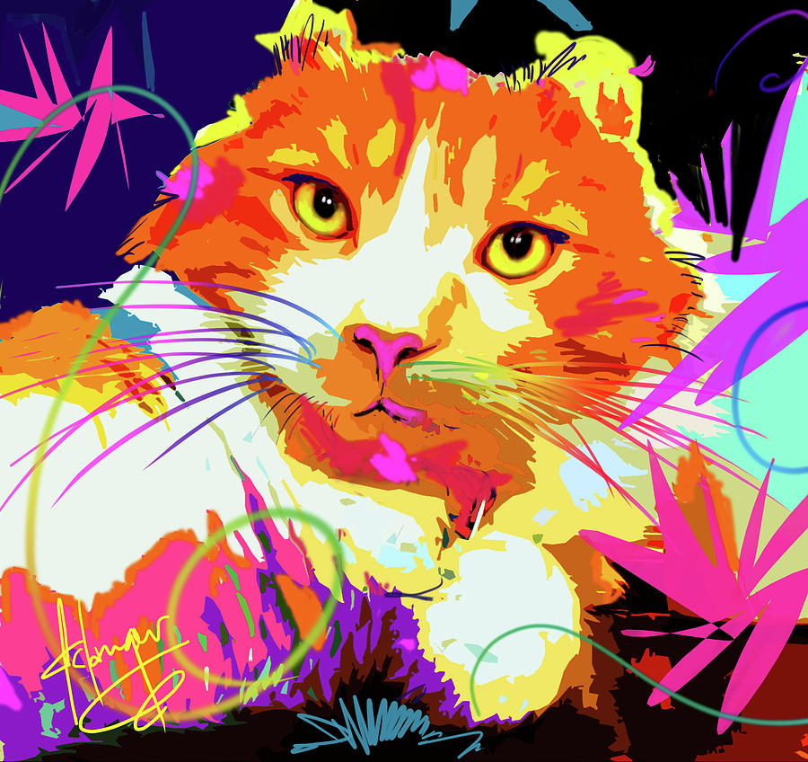 pOpCat Freeway, rescued from the freeway Painting