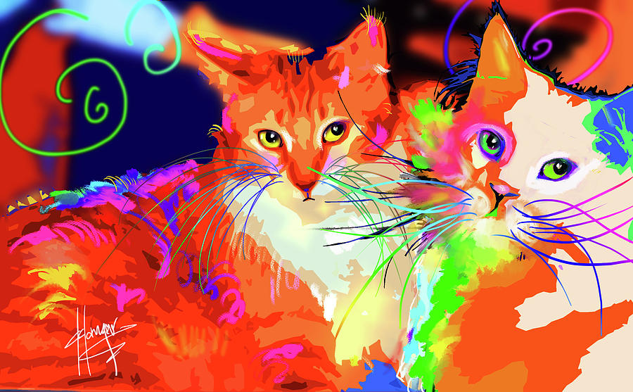 pOpCats Goldie and son Pitzel by DC Langer