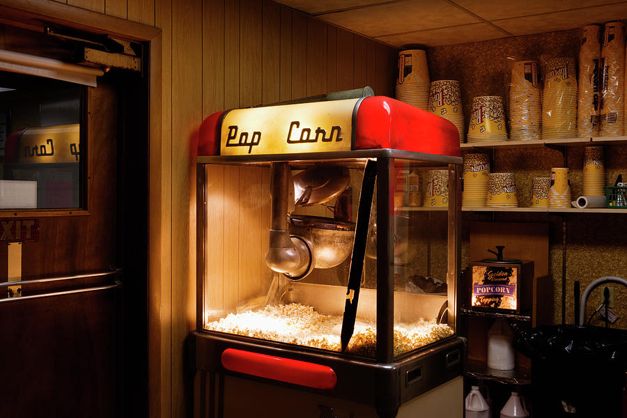 Popcorn Maker At Drive In Theatre By Simon Willms