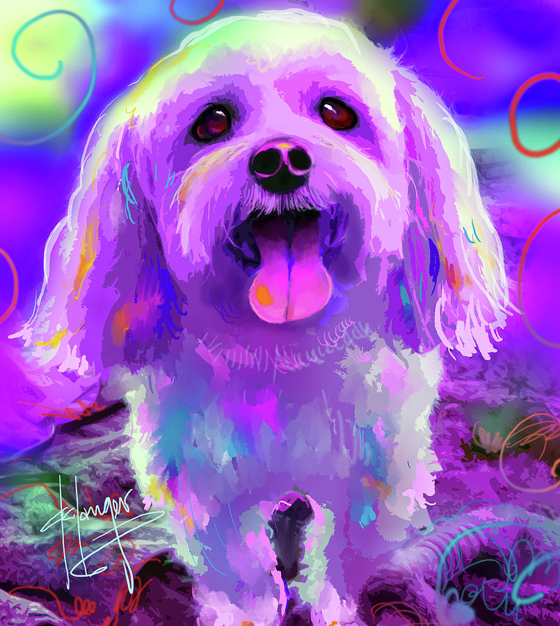 Scout Painting - pOpDog Scout by DC Langer