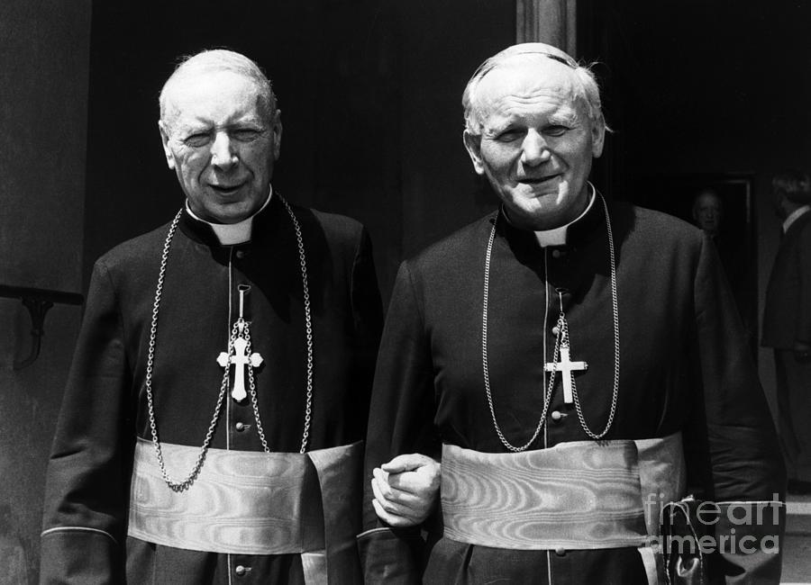 Pope John Paul II And Cardinal Stefan Photograph by Bettmann