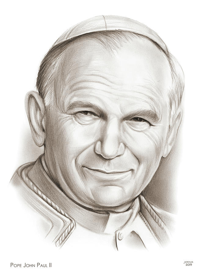 Pope John Paul II by Greg Joens