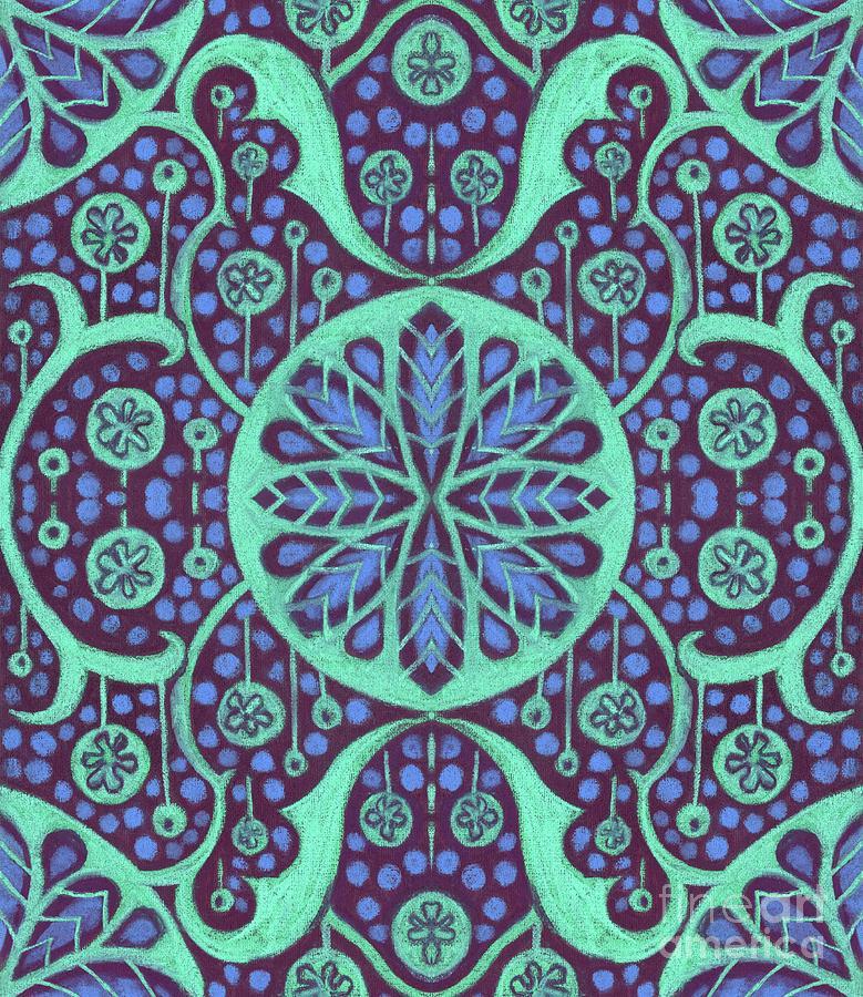 Floral Mandala Mixed Media - Poppie Pods  by Julia Khoroshikh