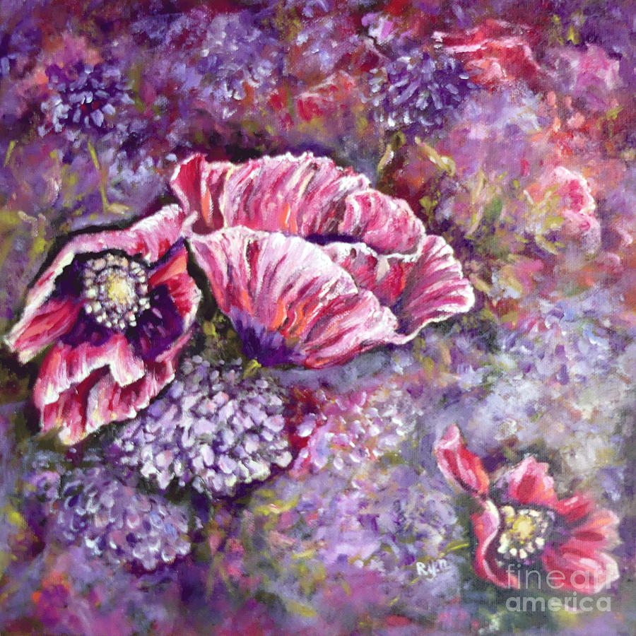 Poppies and Candytuft Flowers by Ryn Shell
