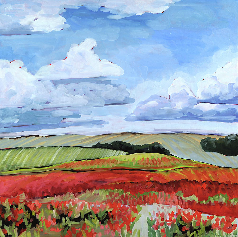 Poppies Painting - Poppies by Anne Lewis