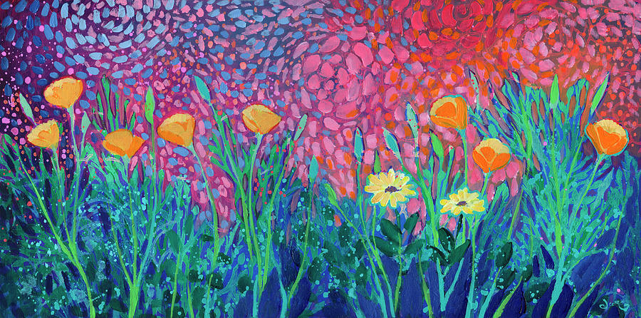 Poppies At Twilight Painting