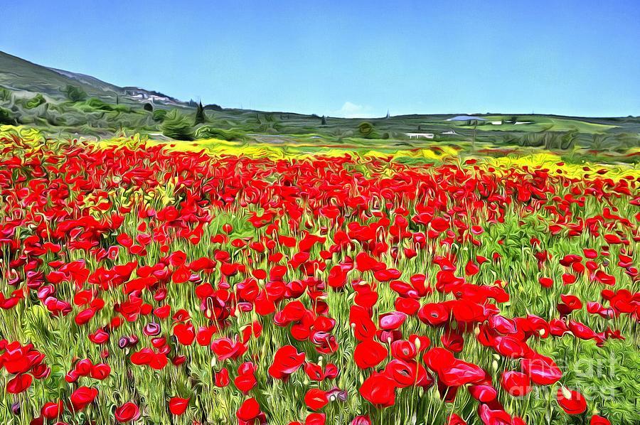 Poppies during springtime IV by George Atsametakis