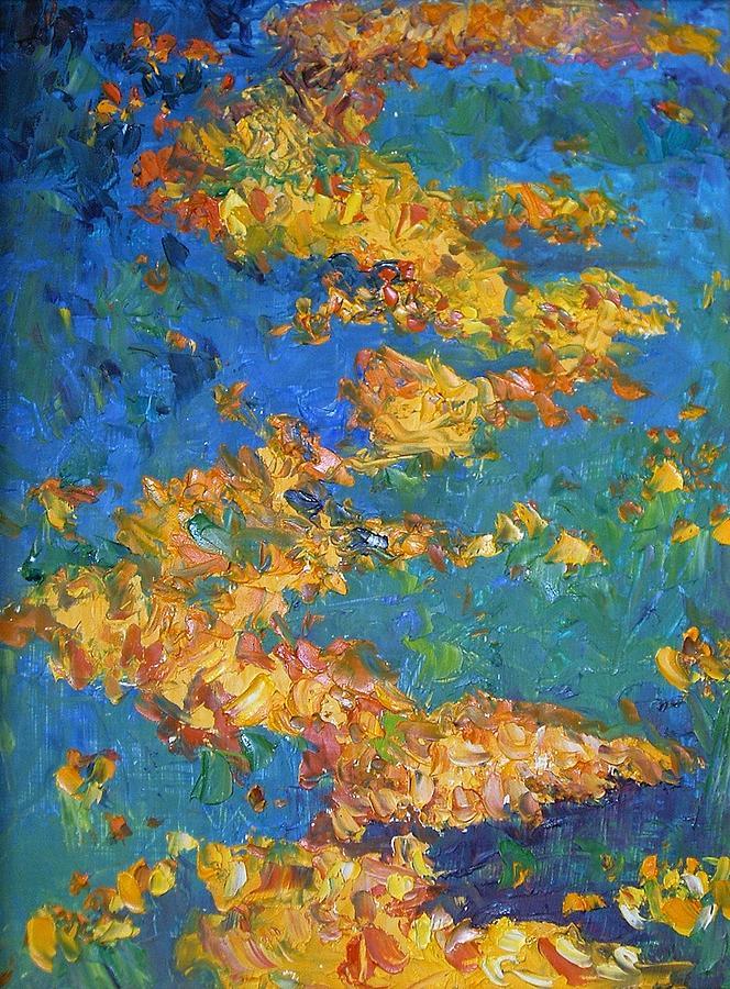 Abstract Painting - Poppies by Ellen Kirwan