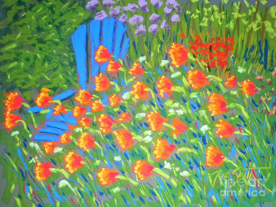 Poppies in the Wind  by Rae  Smith PAC