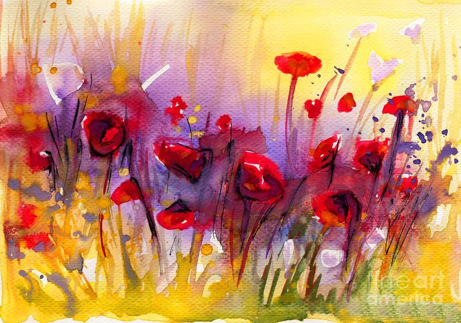 poppies on meadow by Katarzyna Bruniewska-Gierczak